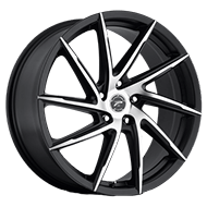Platinum Wheels<br /> 433U Hawk Satin Black