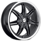 Platinum Wheels<br /> 204 Mantis Gloss Black<br /> with Diamond Cut & Clear Coat