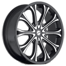 Platinum Wheels<br /> 408 Mogul Gloss Black<br /> with Diamond Cut &amp; Clear Coat