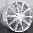 Platinum Wheels<br /> 081 E-Twine Ultra Armor Silver