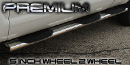 Premium 5 Inch <br />Wheel to Wheel Nerf Bars