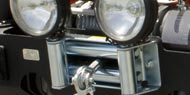 Rugged Ridge Jeep <br>Universal Winch Roller Fairlead <br>with Light Mounting Holes