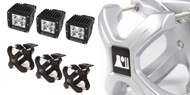 Rugged Ridge Jeep <br>X-Clamp 3 Piece Light Kits