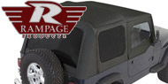 Rampage Complete Soft Top <br>87-95 Jeep YJ