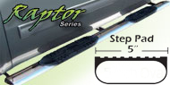 Raptor 5 Inch Stainless Oval Nerf Bars