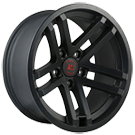 Rugged Ridge <br>Jesse Spade Wheel Satin Black