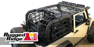 Rugged Ridge Cargo Net - Black 2 Doors
