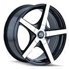 Sacchi Wheels <br/> 272 Black/Machined Face