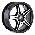 Sacchi Wheels <br> S73 Black/Machined