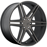 DUB Wheels Skillz S123 <br />Black and Machined w/ Dark Tint