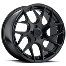 TIS Wheels <br />542B Gloss Black with Chrome Rivets