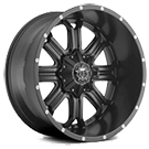 TIS Wheels<br /> 535B Satin Black