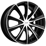 Touren Wheels<br /> TR10 Black Machined