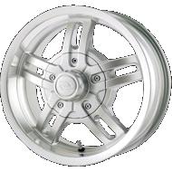 Trailer Ion 12 Silver Machined Lip Wheels