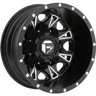 Fuel Wheels <br /> Throttle D513 Dually Rear Matte Black Milled