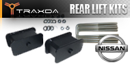 Nissan <br />Traxda Rear Lift Block & Spacer Kits