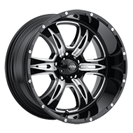 Ultra Wheels <br />249BM Predator II Gloss Black 5/6 Lug