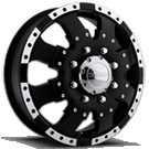 Ultra Wheels<br /> 023 Dually Front Matte Black <br />with Diamond cut lip