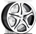 Platinum Wheels<br /> 093 Gem Machined w/ Clear Coat