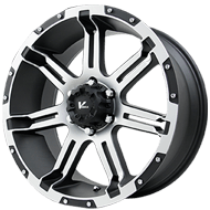 V-Rock Wheels <br />VR1 Overdrive Matte Black with Machined