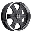 Vision Offroad Blast 3961 <br>Matte Black with Machined Lip