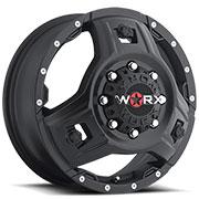 WORX Wheels Triad 801 Dually Front <br/>Satin Black