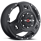 WORX Wheels Triad 801 Dually Front <br/>Satin Black
