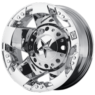 KMC XD775 Rockstar Dually Chrome Wheels