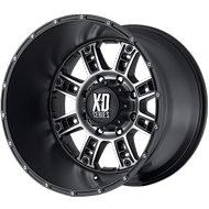 XD809 Riot Wheels <br> Matte Black Machined