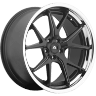 Adventus AVS-3 Matte Black Milled Wheels w/ SS Lip