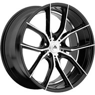 Adventus Wheels AVX-6 Gloss Black Machined