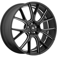 Adventus Wheels AVX-7 Matte Black Milled