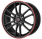 Akita Racing Wheels <br/>AK-77 Gunmetal/Machined Ring