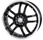 Akita Racing Wheels <br/>AK-15 Black Machined Face/Lip