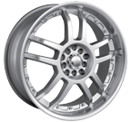 Akita Racing Wheels <br/>AK-15 Hyper Silver with Machined Lip