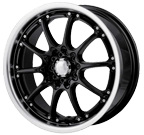 Akita Racing Wheels <br/>AK-5 Black Machined Face/Lip