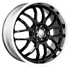Akita Racing Wheels <br/>AK-6 Black Machined Face/Lip