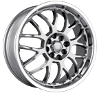 Akita Racing Wheels <br/>AK-6 HyperSilver with Machined Lip