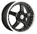 Akita Racing Wheels <br/>AK-8 Black Machined Face/Lip