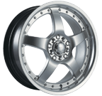 Akita Racing Wheels <br/>AK-8 HyperSilver with Machined Lip