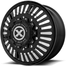 ATX WHEELS <BR/>AO403 ROULETTE SATIN BLACK MILLED