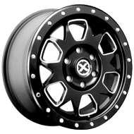 ATX AX196 Ammo Satin Black w/ Milled Accents Wheels