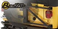 Bestop HighRock 4x4 Oversize Tire Carriers <br/> 87-95 Wrangler YJ