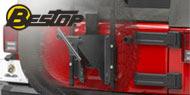 Bestop HighRock 4x4 Oversize Tire Carriers <br/> 07-17 Wrangler JK
