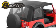 Bestop Supertop Soft Tops <br>76-86 Jeep CJ7 <br>Full Doors & Clear Windows