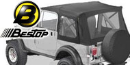 Bestop Supertop Soft Tops <br>80-95 Jeep YJ and CJ7 <br> Full Doors & Clear Windows