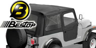 Bestop Supertop Soft Tops<br> 76-95 Jeep YJ and CJ7 <br>Tinted Windows