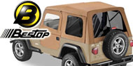 Bestop Supertop Soft Tops <br>80-95 Jeep YJ and CJ7 <br>Full Doors & Tinted Windows
