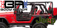 1997-06 Jeep TJ<br /> Body Armor Roof Rack Base Kit