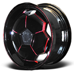 Full Moon Wheels Black/Red